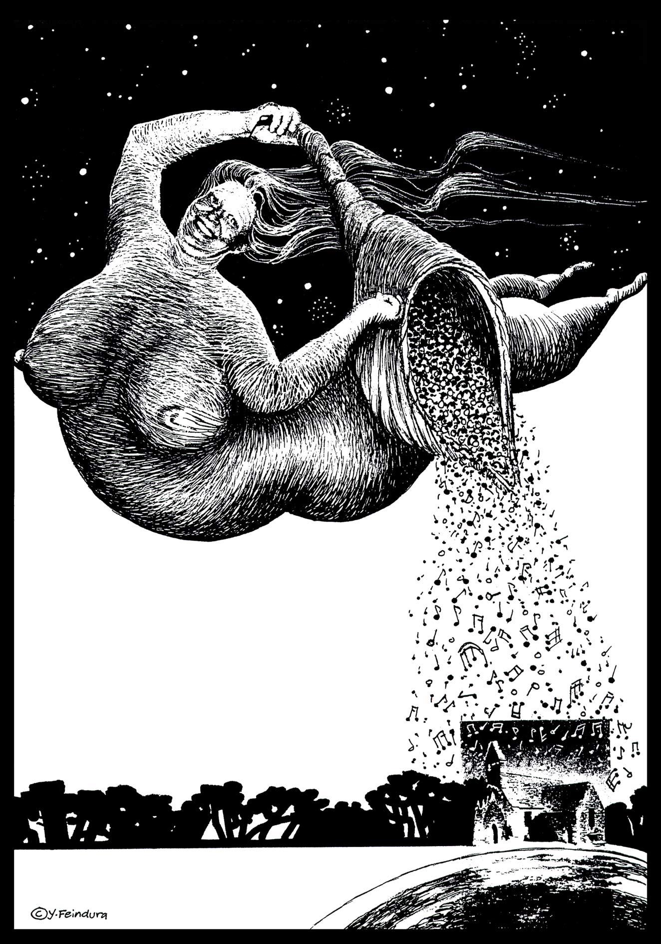 Grusella-Karikatur